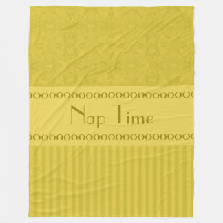 City Gold Abstract Coordinated Stripes Your Text Fleece Blanket