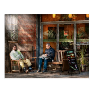 City - Greenwich Village - The path cafe Postcard