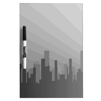 City Greyscape Dry Erase Board