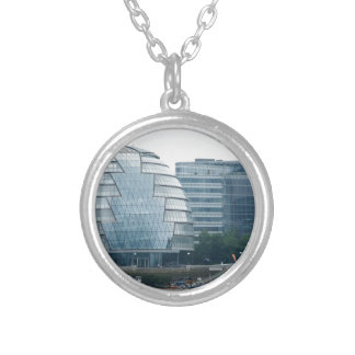 City Hall in London Silver Plated Necklace