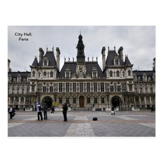 City Hall in Paris, France Postcard