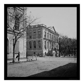 City Hall of Charleston, SC 1865 Poster