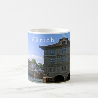 City Hall of Zurich. The banks of the Limmat. Coffee Mug