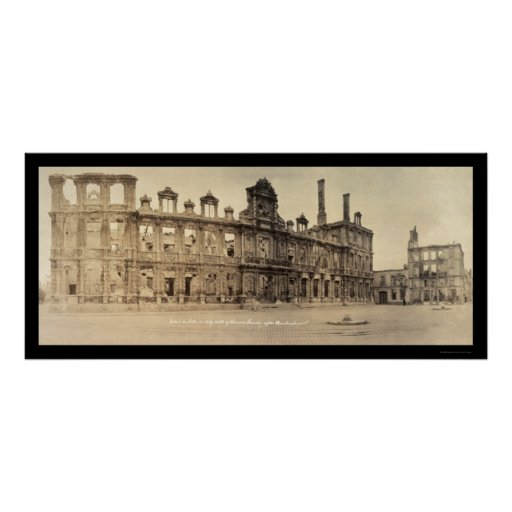 City Hall Rheims Photo 1919 Poster
