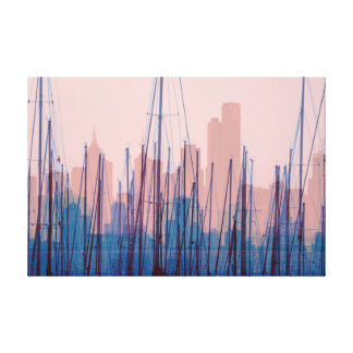 City Harbour Skyline Canvas Print