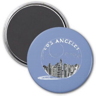 City in a glass bowl . Los Angeles Magnet