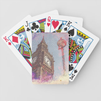 City in Nebula #purple Bicycle Playing Cards