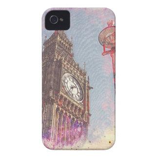City in Nebula #purple iPhone 4 Case-Mate Case