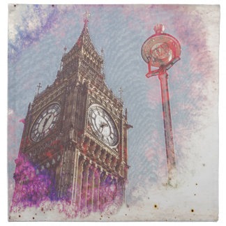 City in Nebula #purple Napkin