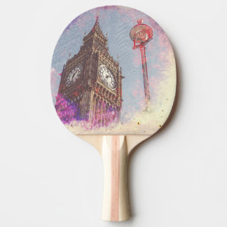 City in Nebula #purple ping pong paddle