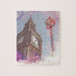 City in Nebula #purple Puzzle