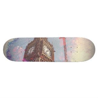 City in Nebula #purple #skateboard Skate Boards