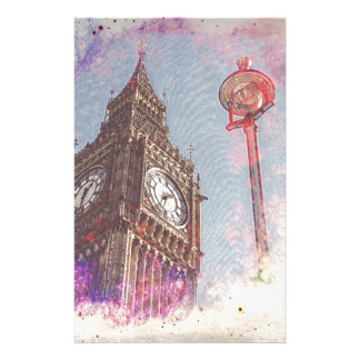 City in Nebula #purple Stationery