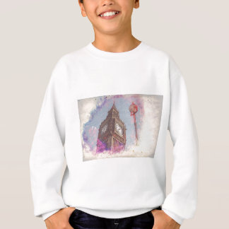 City in Nebula #purple Sweatshirt