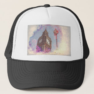 City in Nebula #purple Trucker Hat