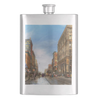 City - Kansas City MO Commerce from the past 1900 Flasks