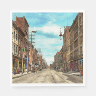 City - Knoxville TN - Gay Street 1903 Disposable Napkins