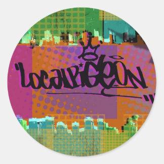 City Landscape Classic Round Sticker