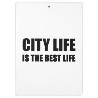 City Life Best Life Clipboard