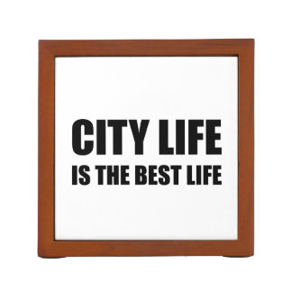 City Life Best Life Desk Organizer