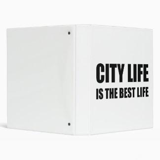 City Life Best Life Vinyl Binders