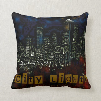 city lights American MoJo Pillow