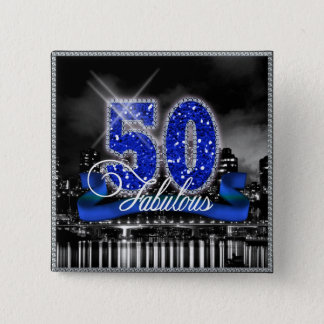 City Lights Fabulous Fifty ID191 2 Inch Square Button