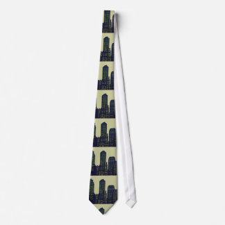 City lights grey green tie