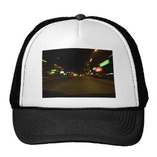 city lights - motion blurry trucker hat