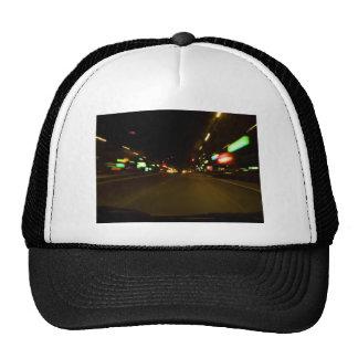 city lights - motion blurry trucker hat