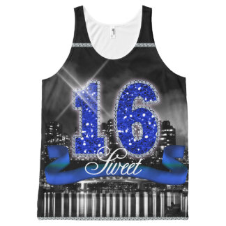 City Lights Sweet 16 Blue ID118 All-Over-Print Tank Top