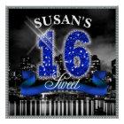 City Lights Sweet Sixteen Blue ID118 Poster
