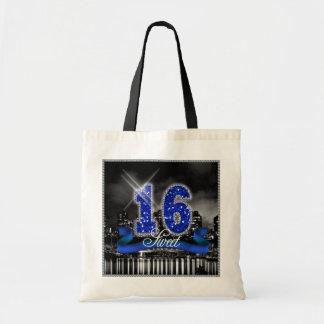 City Lights Sweet Sixteen Blue ID118 Tote Bag