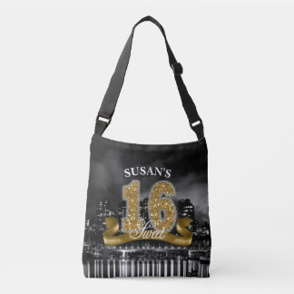 City Lights Sweet Sixteen Gold ID243 Crossbody Bag