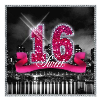 City Lights Sweet Sixteen Pink ID117 Card