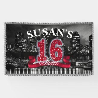 City Lights Sweet Sixteen Red ID242 Banner