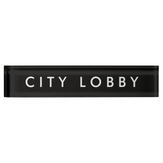 City Lobby Nameplate