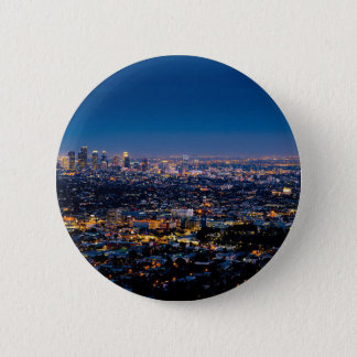 City Los Angeles Cityscape Skyline Downtown 2 Inch Round Button