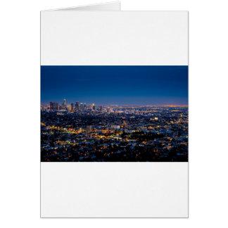 City Los Angeles Cityscape Skyline Downtown Card