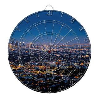 City Los Angeles Cityscape Skyline Downtown Dartboard