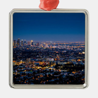 City Los Angeles Cityscape Skyline Downtown Metal Ornament