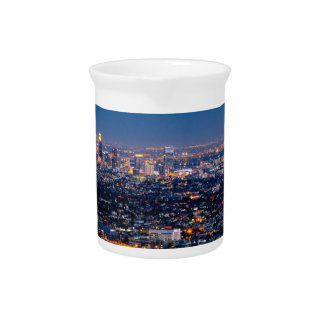City Los Angeles Cityscape Skyline Downtown Pitcher