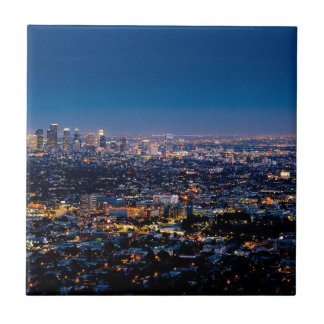 City Los Angeles Cityscape Skyline Downtown Tile