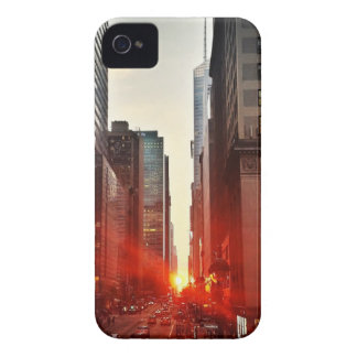 City Manhattan Sunset Town Buildings Skyscrapers Case-Mate iPhone 4 Case