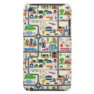 City Map Pattern Barely There iPod Cover