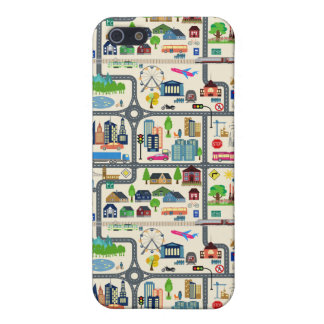 City Map Pattern Cover For iPhone 5/5S