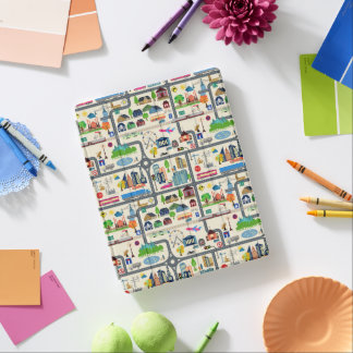 City Map Pattern iPad Cover