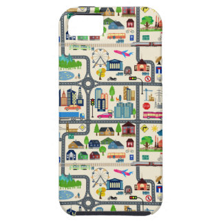 City Map Pattern iPhone 5 Cover