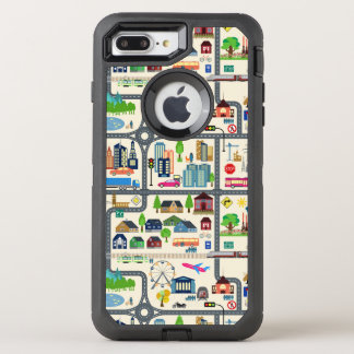 City Map Pattern OtterBox Defender iPhone 7 Plus Case