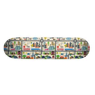 City Map Pattern Skateboard Decks